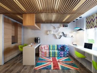 用陈设品表现室内陈设的空间美与构图美