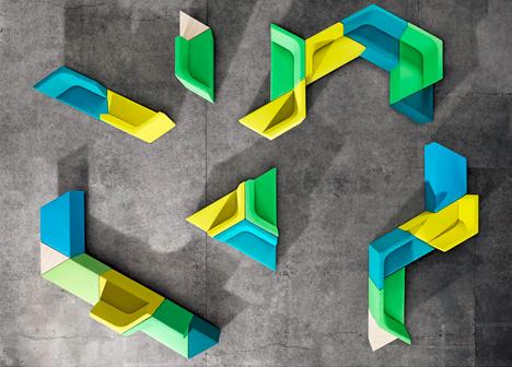 家具配饰设计:俄罗斯方块式的模块化座椅系统图片