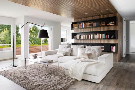 室内装饰设计 木制包装天花板横向表达式