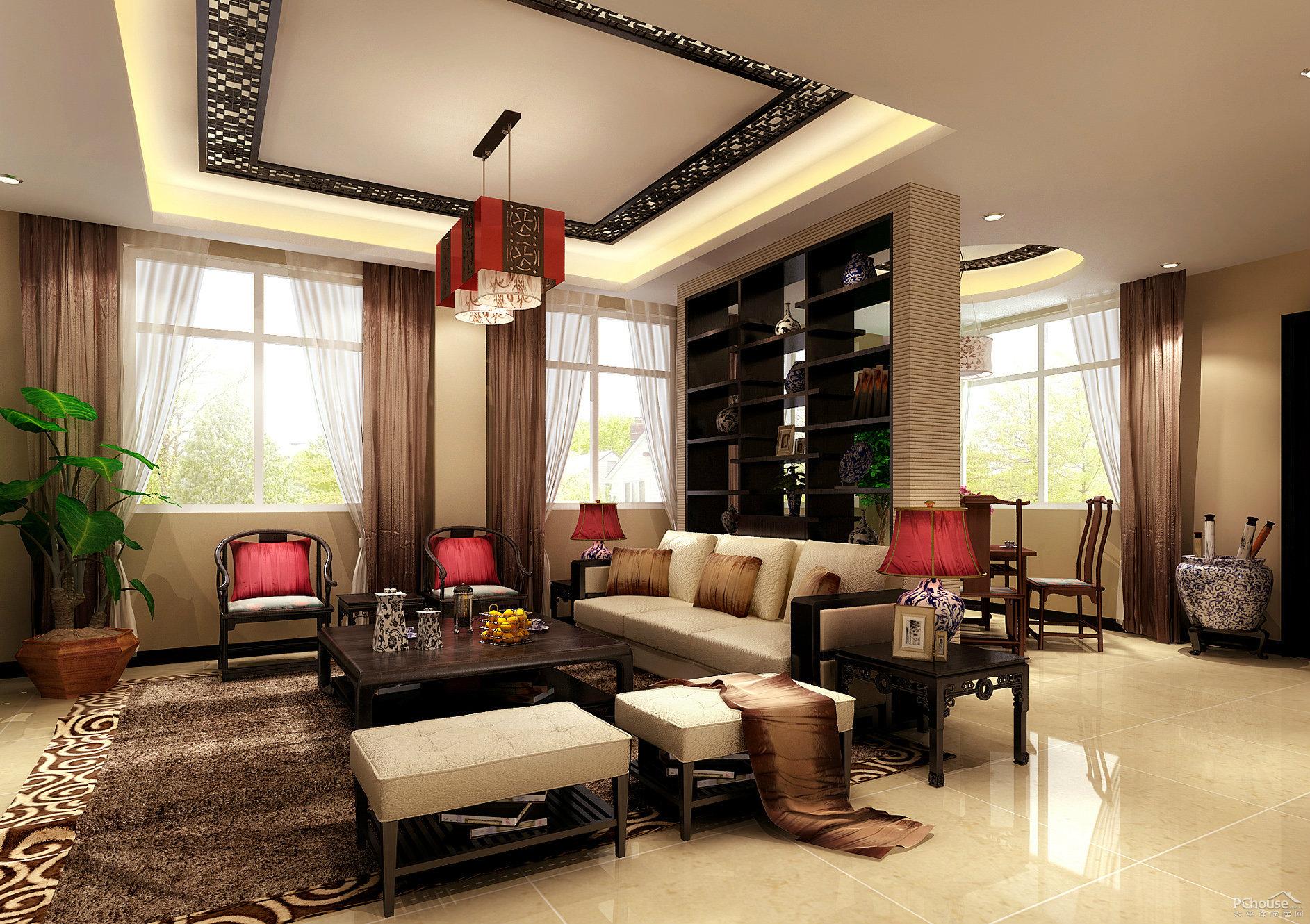 不同风格别墅设计中客厅装饰案例