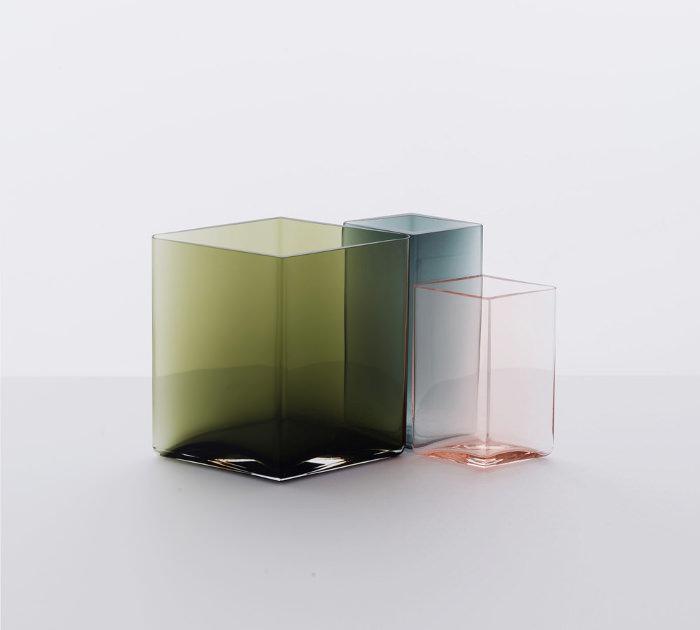 ruutu水彩般的玻璃花瓶创意设计