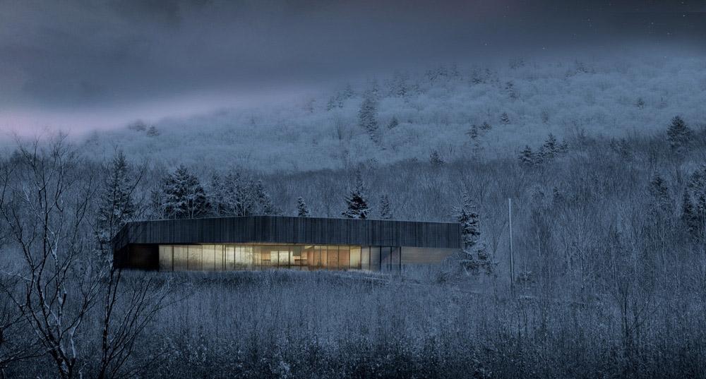 魁北克雪乡中的瑞士木屋