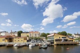 斯德哥尔摩的海洋风餐厅