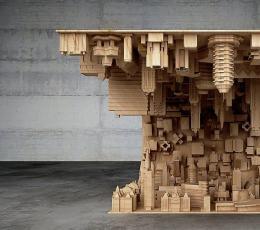 电影《盗梦空间》启发设计师制作的咖啡桌