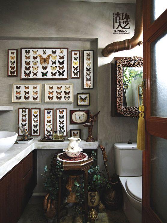国外家装样板间浴室设计:古董物品的集合