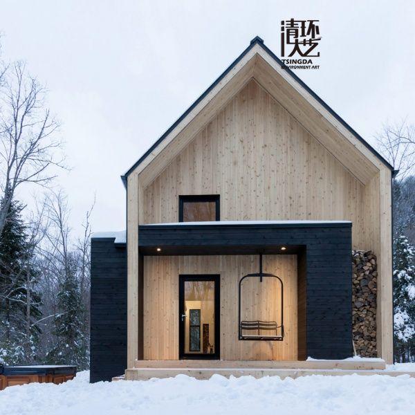 货物架构成Scandinavian-inspired度假别墅
