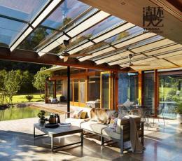 别墅景观设计绿廊给炎热的夏天带来丝丝凉爽