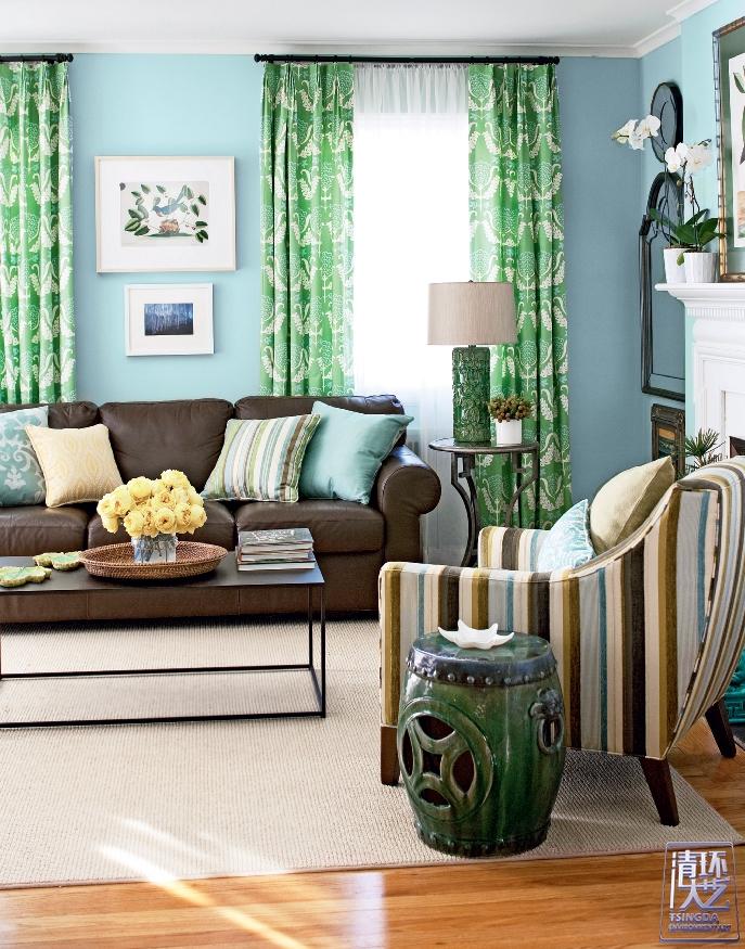 让棕色和绿色和谐共处