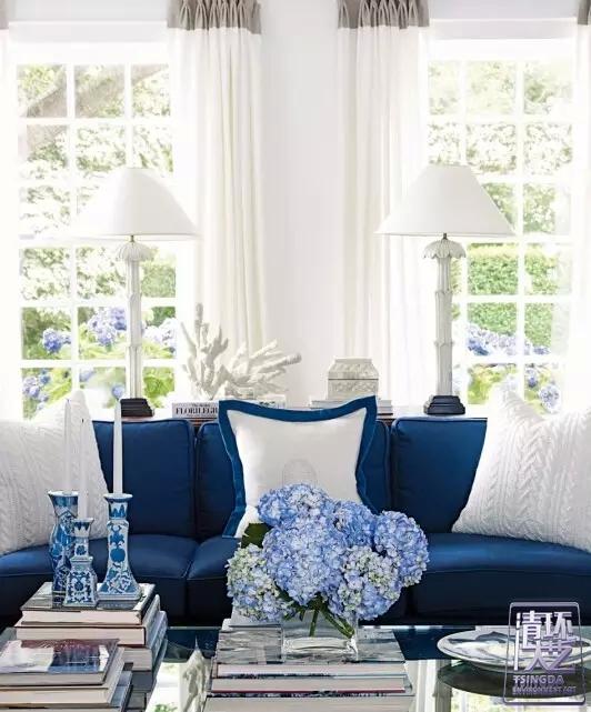 鲜亮亮蓝色家居 亮瞎你的眼