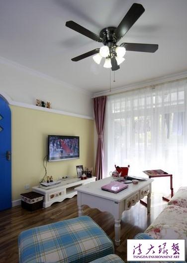 地中海的蓝色魅力 115平装清爽三居室