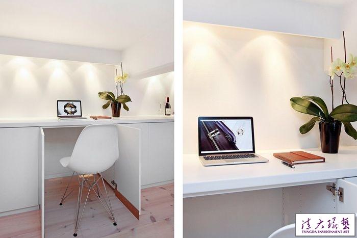 瑞典:纯白色Loft复式空间设计