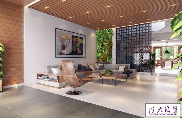 木质与垂直花园 打造会呼吸的氧气别墅