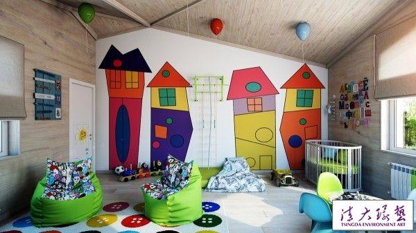 伴随成长 明亮温暖的国外儿童房设计