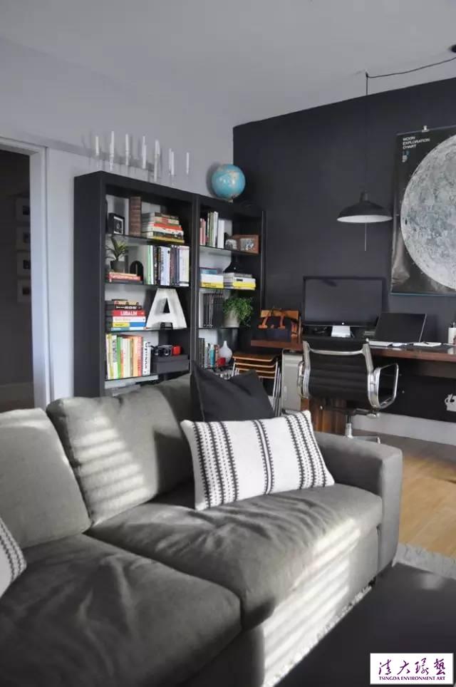 挪威室内设计师夫妻的家 冷静灰色调带来的温馨