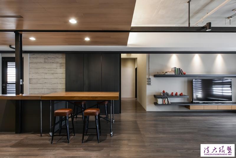 高雄暗色调简工业风公寓设计 太有范儿了
