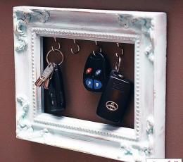 12种家居旧物巧改造 DIY独具创意的钥匙挂钩