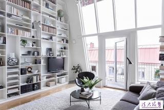 瑞典103平复式公寓 清清爽爽的北欧极简风住宅