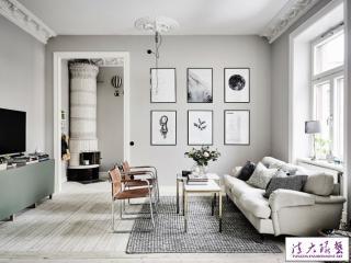 斯德哥尔摩76平米公寓 简约清爽北欧极简风