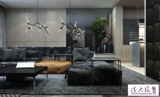 时尚前卫的暗黑系公寓装饰设计