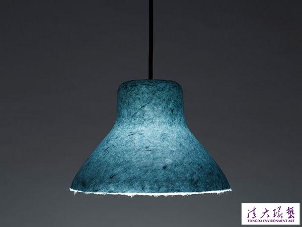 3D 一体成型 nendo 设计双色和纸轻盈灯具