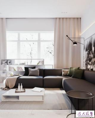 180平极简主义风格家居装饰设计