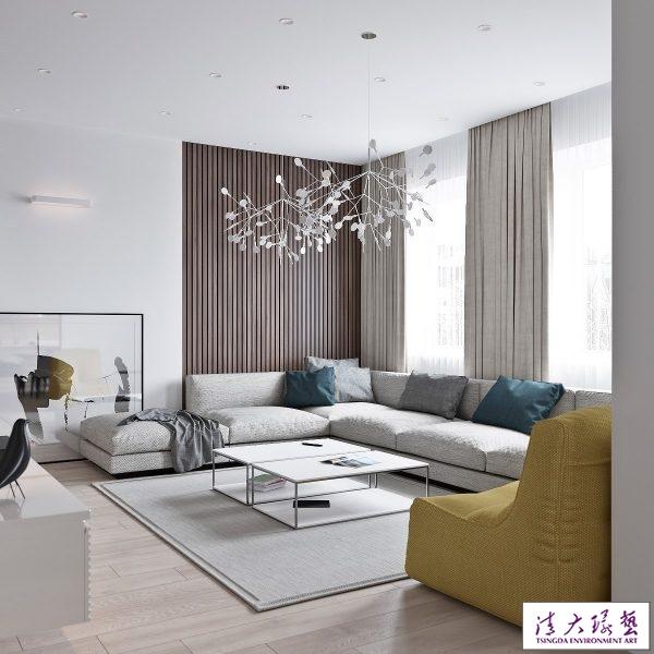 简约清爽的现代时尚公寓设计