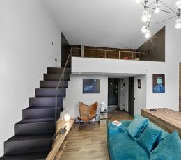 莫斯科54平米单身公寓 个性LOFT住宅