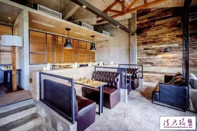工业风咖啡馆室内陈设设计粗犷不羁的