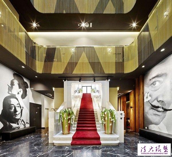 巴塞罗那酒店室内设计金色彰显低调的奢华感