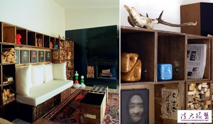 Alessandro Capellaro的家-300个旧盒子改造