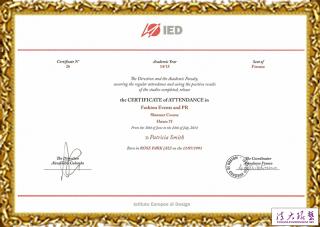 IED(欧洲设计学院)环境艺术设计与管理专业证书