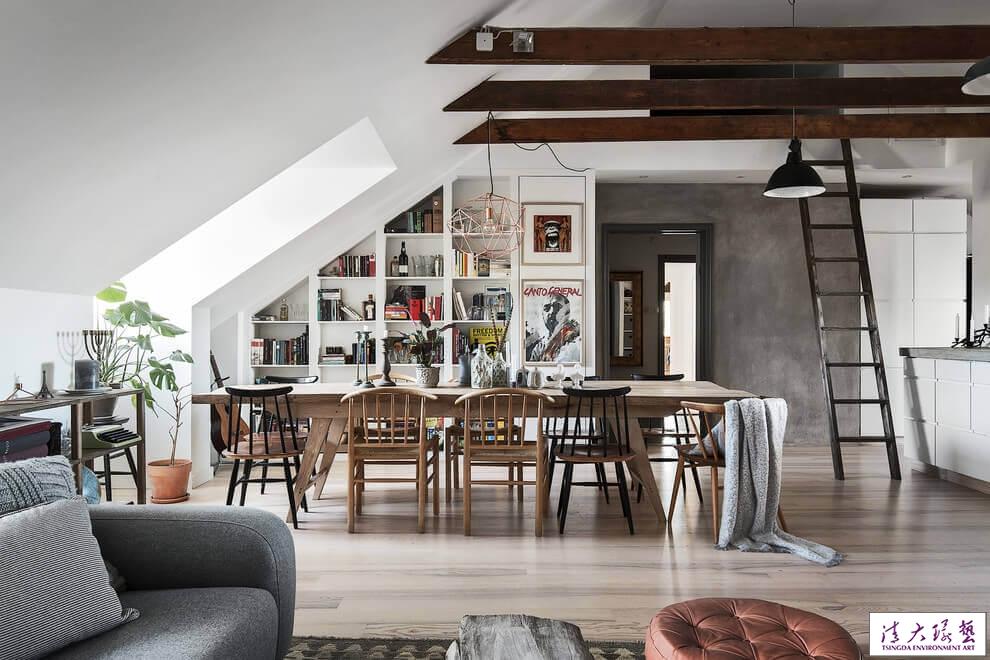 斯德哥尔摩北欧风格阁楼空间设计