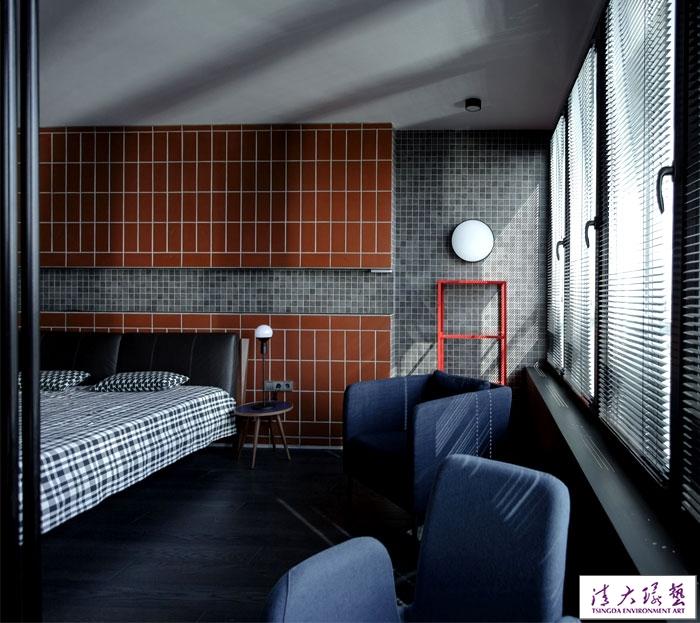 硬朗的黑色风格:Hires公寓设计