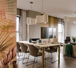 波兰柔和温暖的现代公寓