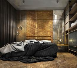 金属质感的现代公寓设计