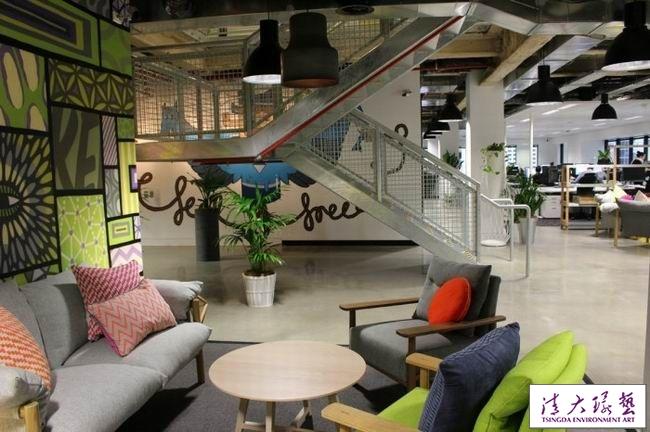 办公室室内装饰工业设计感跃然而现随性自然