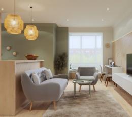 巧妙的空间利用:3个开放布局小公寓设计