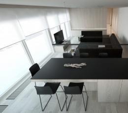 2个简约浅木色现代公寓装饰设计
