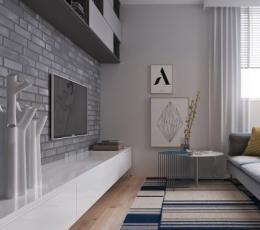 2个裸露砖墙特色的现代装饰设计