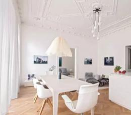优雅纯白公寓装饰设计
