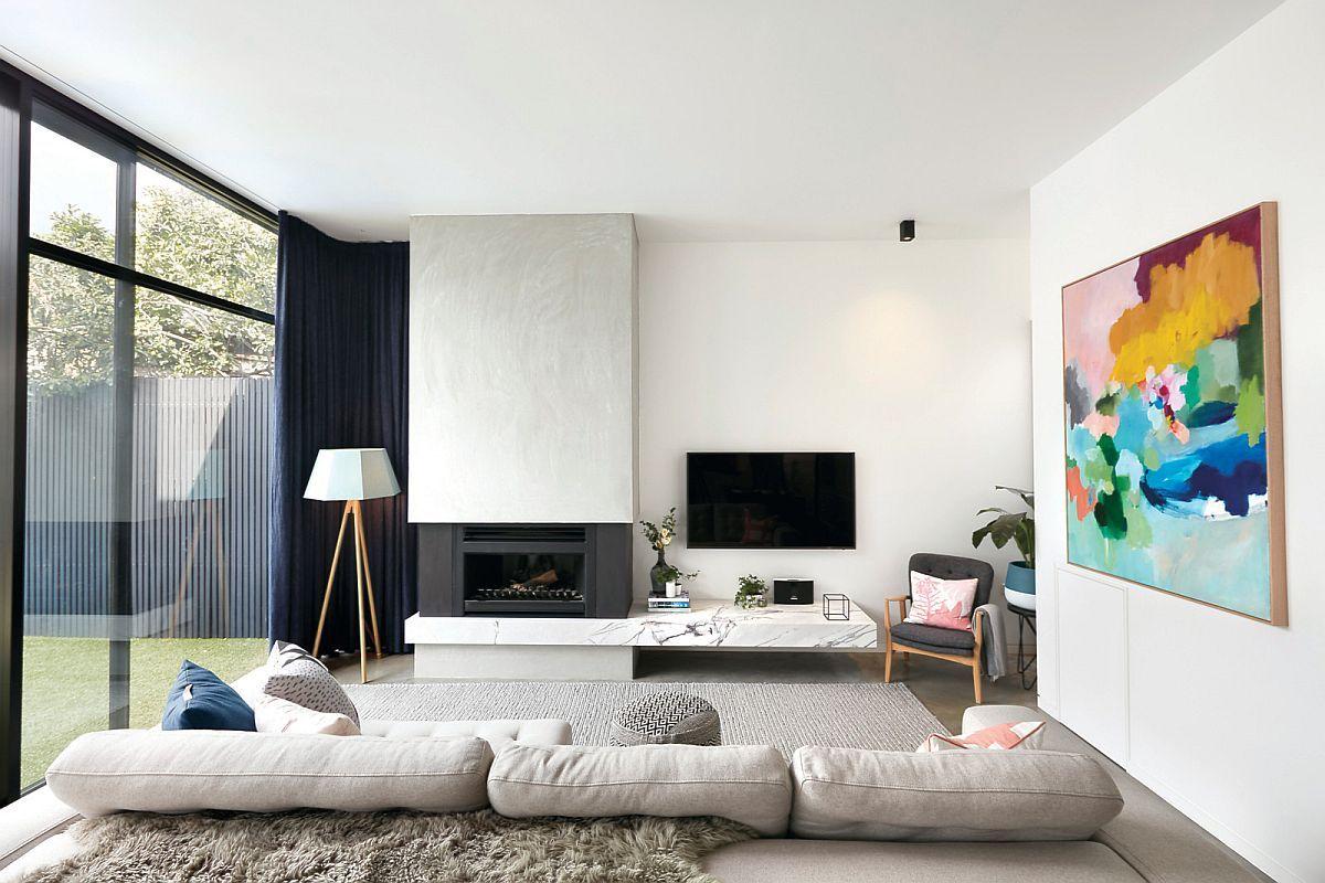 20款单色的客厅白色充满个性增添一些自己的个人风格
