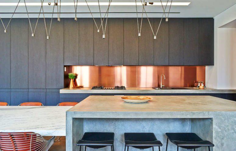 时尚金属质感的装饰风格给室内增添永恒的魅力感