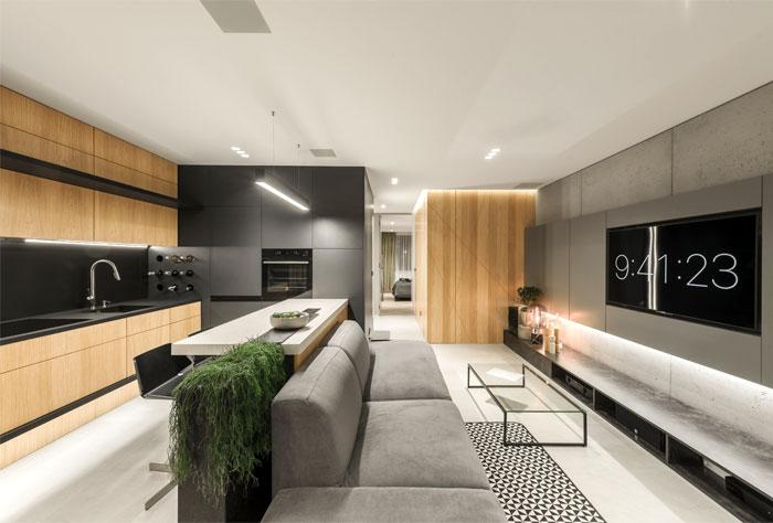 65平超现代感小公寓装饰设计