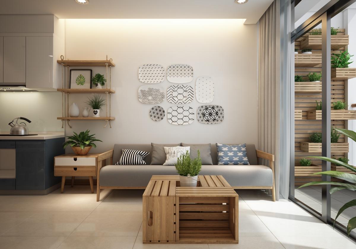 亚洲和北欧风格融合的5个现代小户型装饰设计