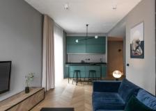 现代化的公寓室内软装搭配简洁的设计和柔和的色调