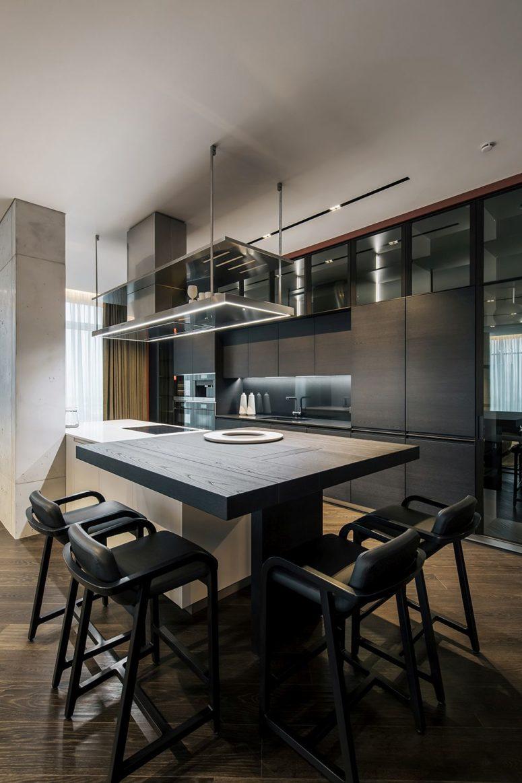 豪华公寓优雅轻松的色调和各种别致的室内装饰元素