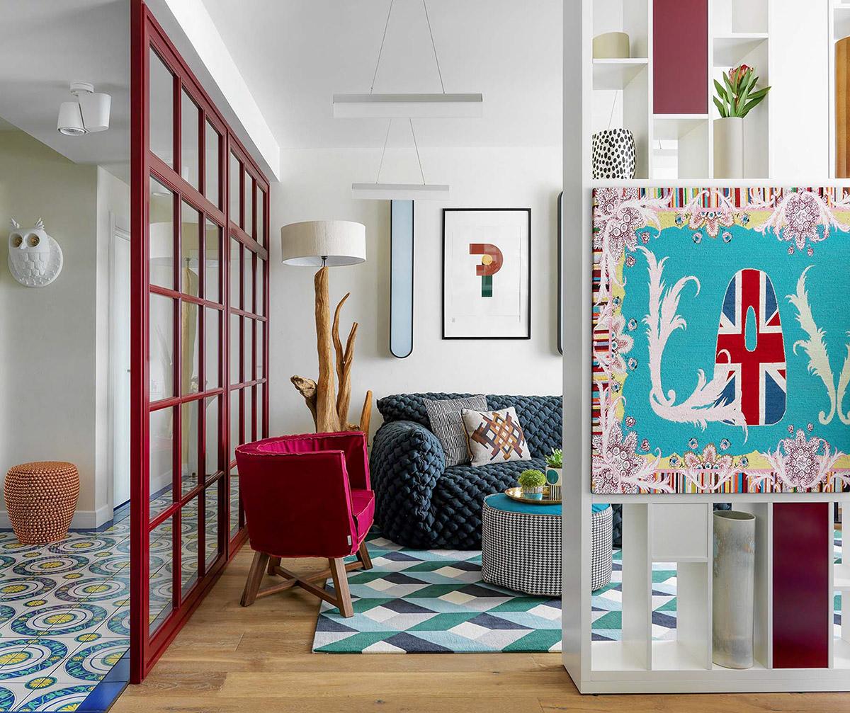 五颜六色的室内装饰,色彩鲜艳