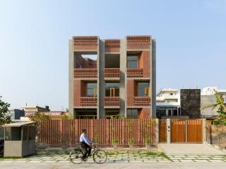 印度动感砖砌住所建筑设计