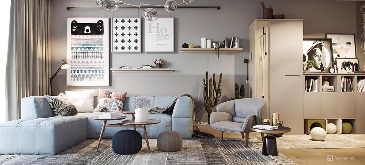 3间小而超时尚的公寓