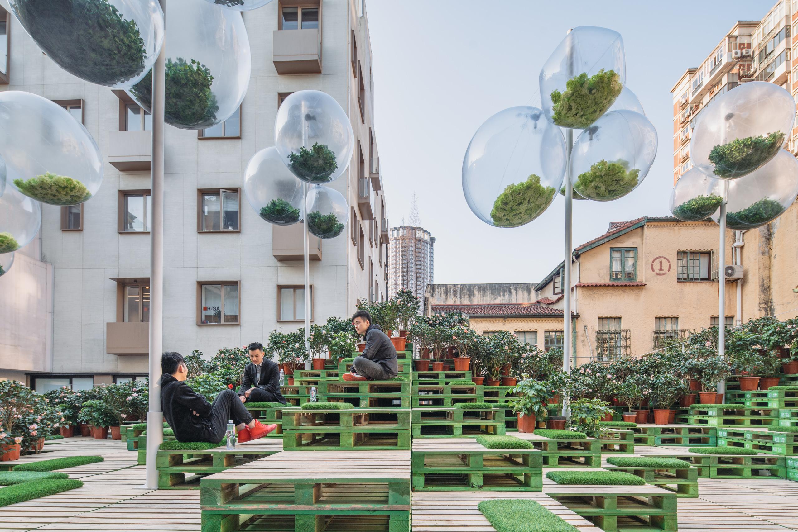 """上海""""城事绽放""""MINI花园景观设计"""